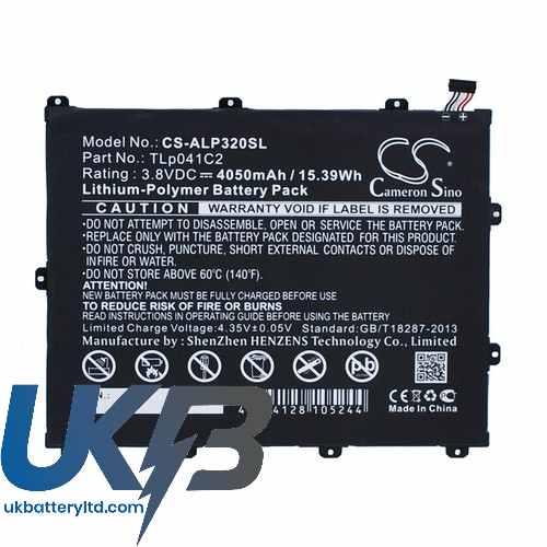 Replacement Battery Batteries For ALCATEL P320A CS ALP320SL