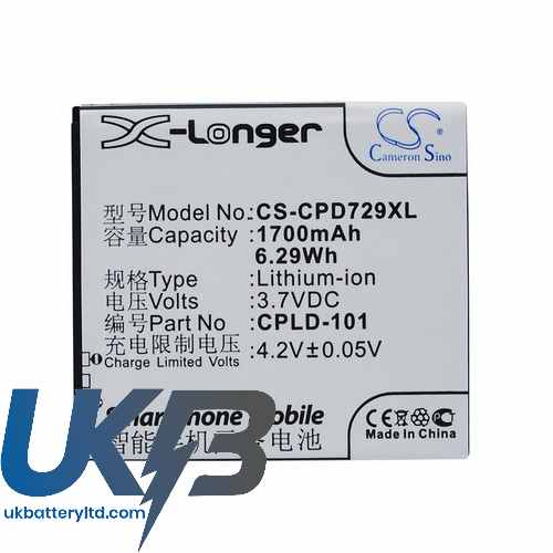 Replacement Battery For Coolpad CPLD-101 7290