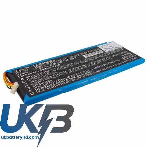 Replacement Battery Batteries For CRESTRON 81 215 360012 CS CRM08SL
