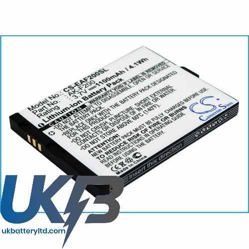 Replacement Battery For TELME AK-F200 AK-F200(V1.0) F200 F210