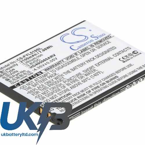 Replacement Battery Batteries For HUAYU HD495060ARV CS FYL519SL