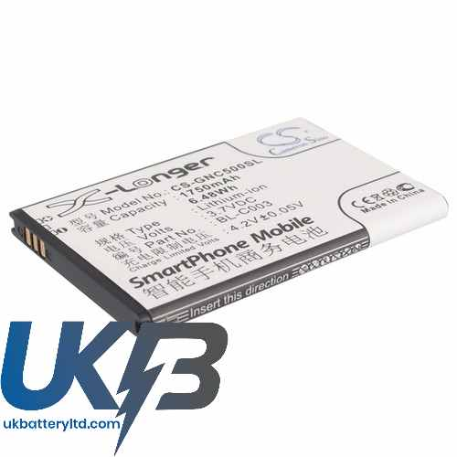Replacement Battery For GIONEE BL-C003 C500 C600