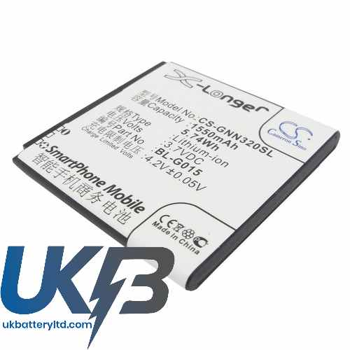 Replacement Battery Batteries For GIONEE GN380 CS GNN320SL