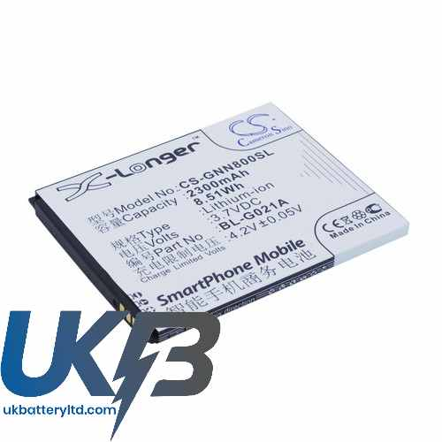 Replacement Battery Batteries For GIONEE BL G021A CS GNN800SL