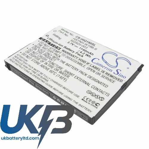 Replacement Battery Batteries For HP 6ATHBE01BPWL4E8 CS HIQ190SL