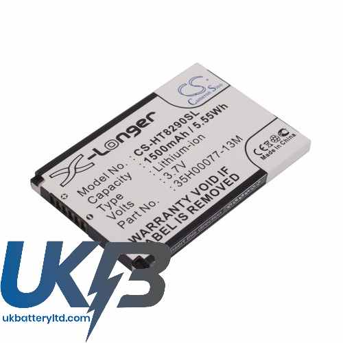 Replacement Battery Batteries For HTC 35H00077 13M CS HT8290SL