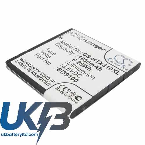 Replacement Battery For HTC 35H00170-01M BA S640 BI39100 Bass Bunyip Eternity