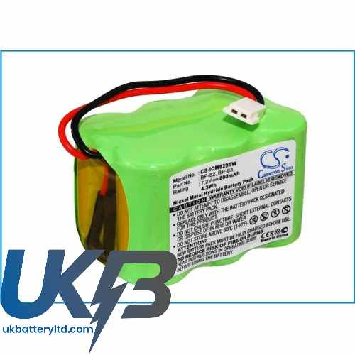 Replacement Battery Batteries For ICOM IC 25RA CS ICM820TW