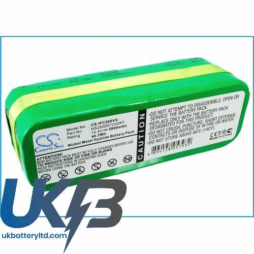 Replacement Battery Batteries For INFINUVO CleanMate 365 CS IFC200VX