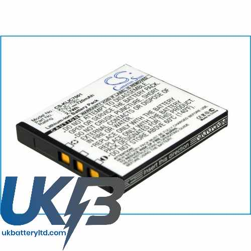 Replacement Battery Batteries For POLAROID T 1235 CS KLIC7001