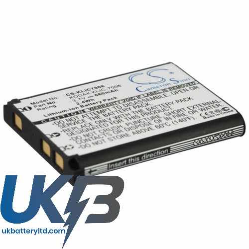 Replacement Battery Batteries For KODAK Easyshare M883 CS KLIC7006