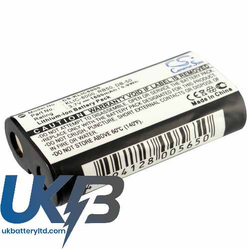 Replacement Battery Batteries For KODAK Easyshare Z812IS Zoom CS KLIC8000