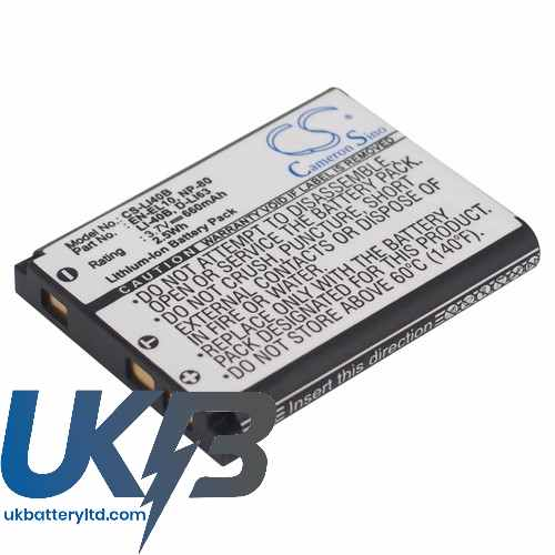 Replacement Battery Batteries For OLYMPUS mju725SW CS LI40B