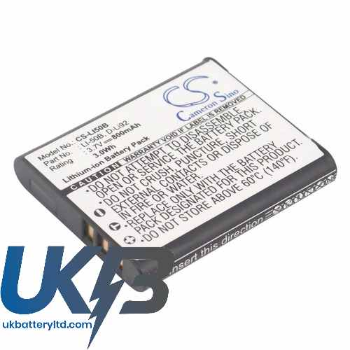 Replacement Battery Batteries For OLYMPUS u9000 CS LI50B