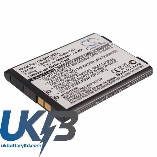 Replacement Battery Batteries For SAGEM 188973731 CS MYC52SL