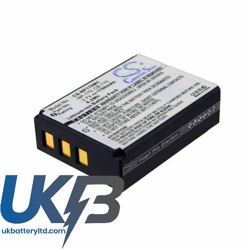 Replacement Battery Batteries For ORDRO CB 170 CS NP170MC