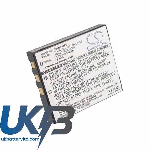 Replacement Battery Batteries For EASYPIX V600 CS NP40FU