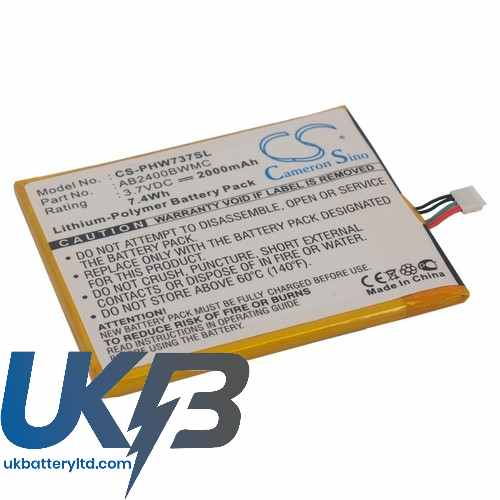 Replacement Battery Batteries For PHILIPS Xenium W736 CS PHW737SL