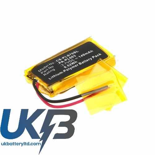 Replacement Battery Batteries For PLANTRONICS 66278 01 CS PLS70SL