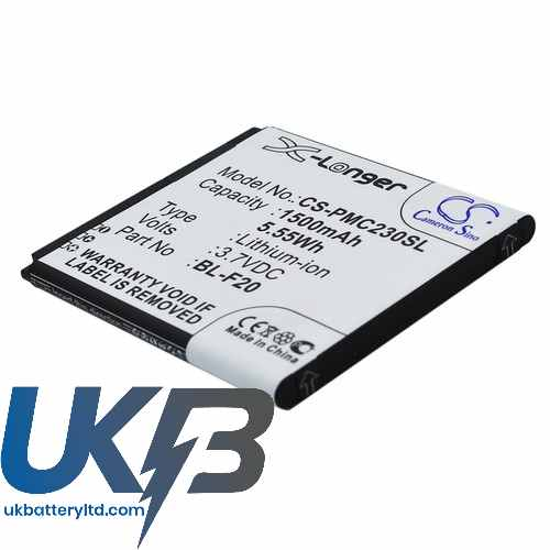 Replacement Battery Batteries For PHICOMM BL F20 CS PMC230SL