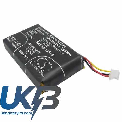 Replacement Battery Batteries For SPORTDOG TEKV1L Handheld Transmitter CS SD815SL