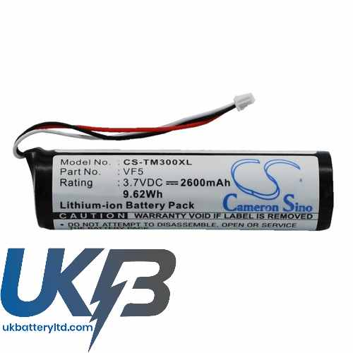 Replacement Battery Batteries For TOMTOM VF5 CS TM300XL