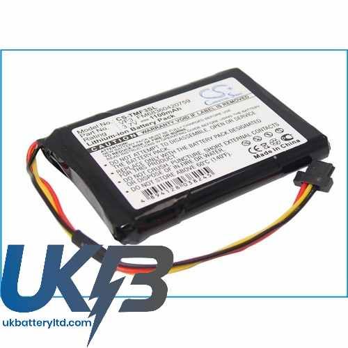 Replacement Battery Batteries For TOMTOM VF3 CS TMF3SL
