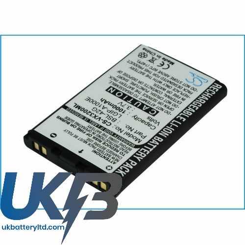 Replacement Battery Batteries For LG 325 CS VX3200ML