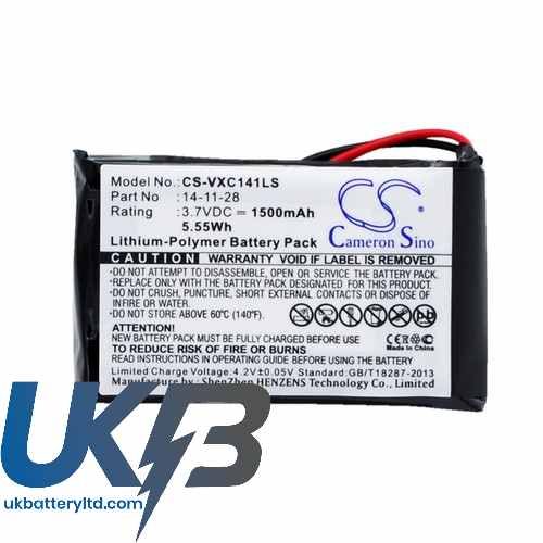 Replacement Battery Batteries For VANCOUVER XC 141K CS VXC141LS