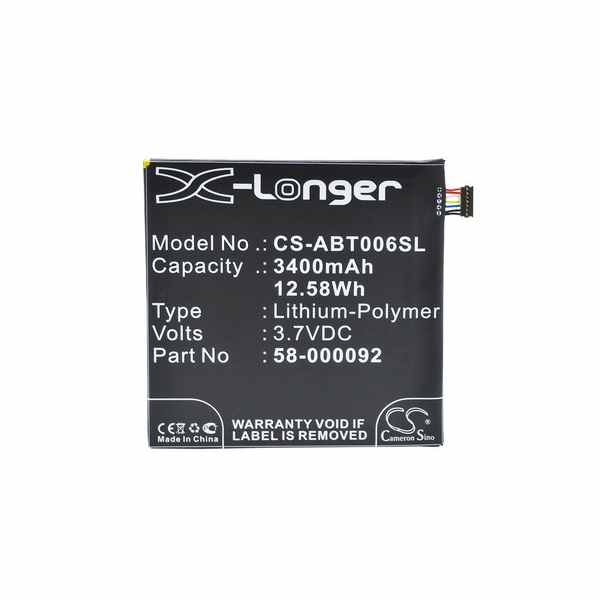 Replacement Battery Batteries For AMAZON 26S1006 CS ABT006SL