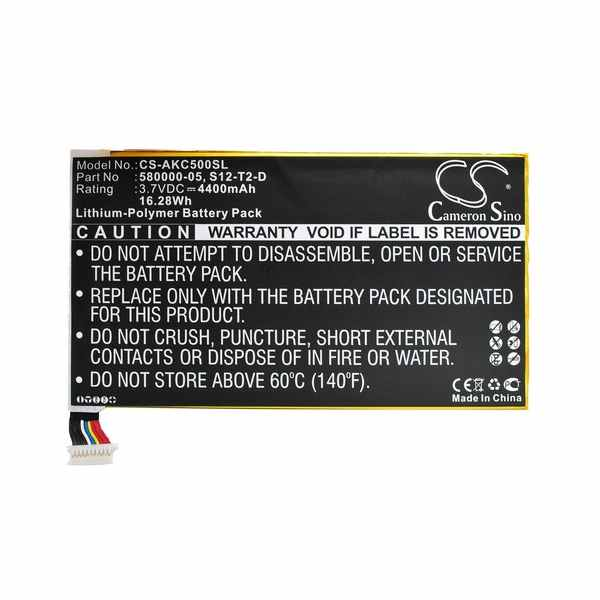 Replacement Battery Batteries For AMAZON 26S1001 A1 1ICP4-82-138 CS AKC500SL
