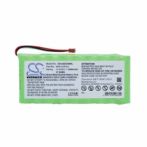 Replacement Battery For Ando 9HR-4/3FAU AQ7250 mini-OTDR