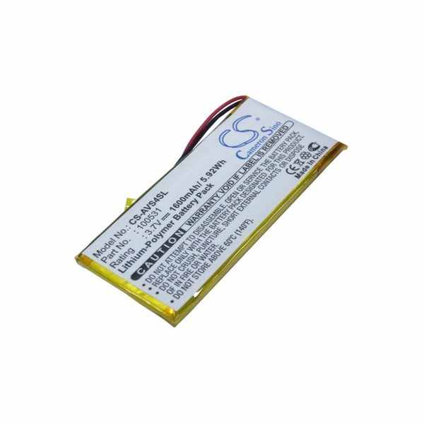 Replacement Battery Batteries For ARCHOS 100531 CS AVS4SL