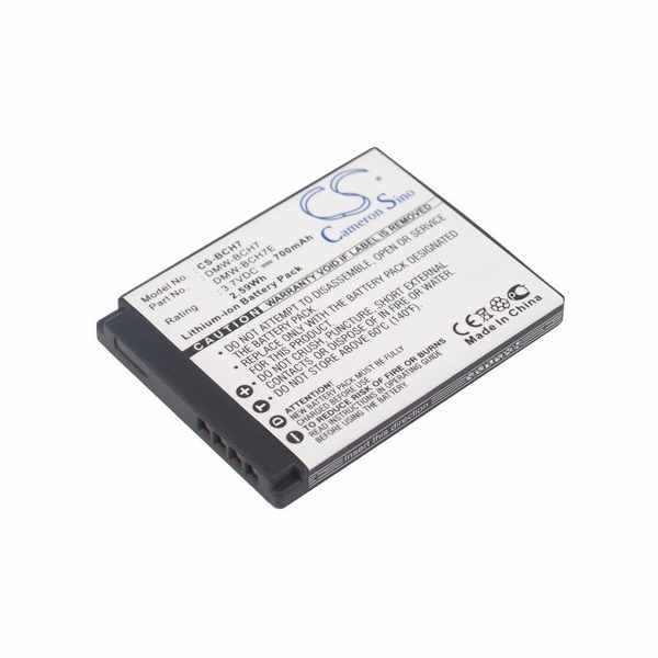 Replacement Battery Batteries For PANASONIC Lumix DMC FP1H CS BCH7