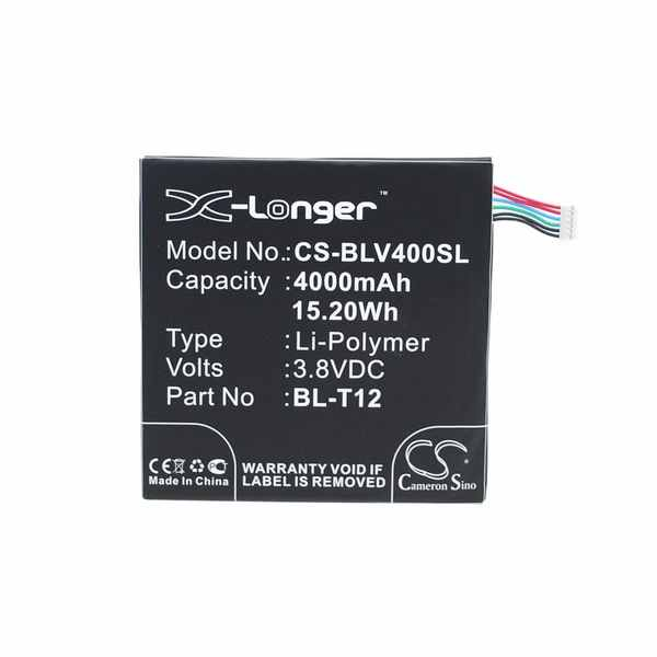Replacement Battery Batteries For LG BL T12 CS BLV400SL