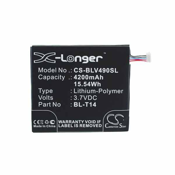 Replacement Battery Batteries For LG BL T14 CS BLV490SL