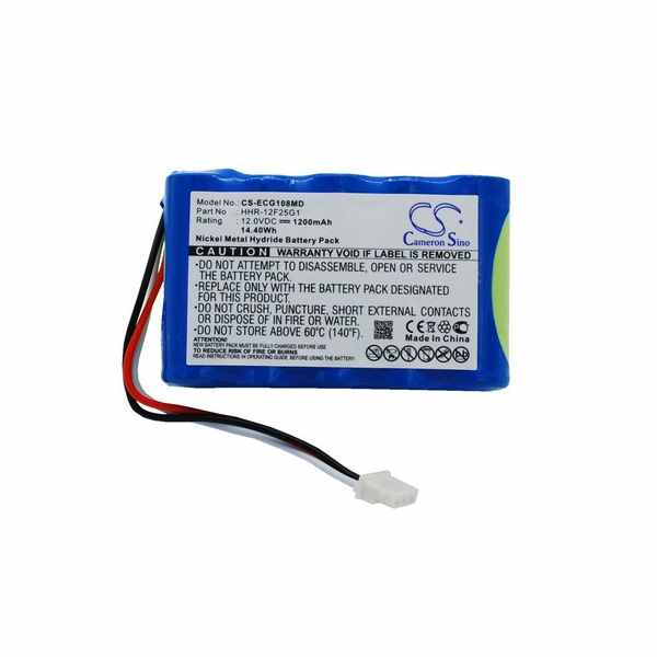Replacement Battery Batteries For KENZ CARDICO ECG 108 CS ECG108MD