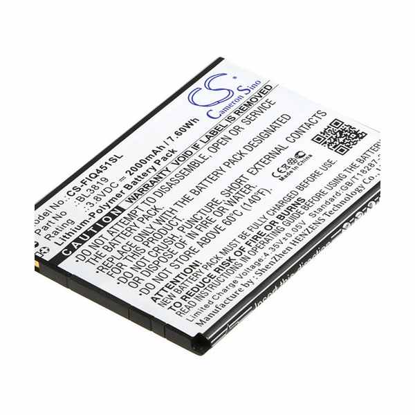 Replacement Battery Batteries For FLY BL3819 CS FIQ451SL