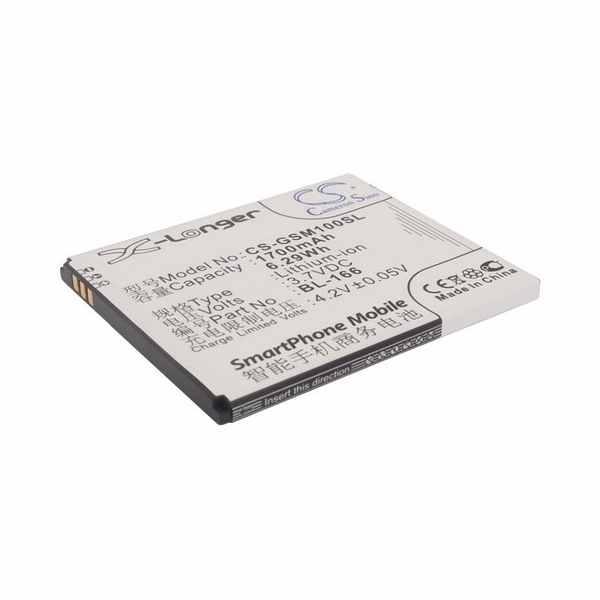 Replacement Battery Batteries For GSMART BL 166 CS GSM100SL