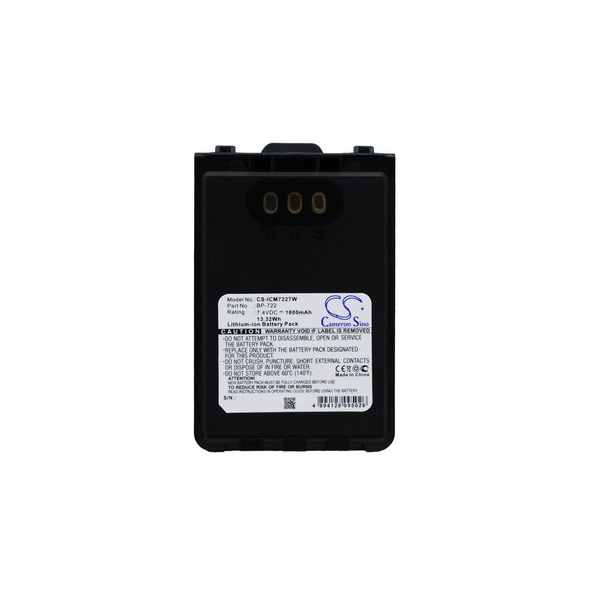 Replacement Battery For Icom BP-722 ID-31A ID-31E ID-51A