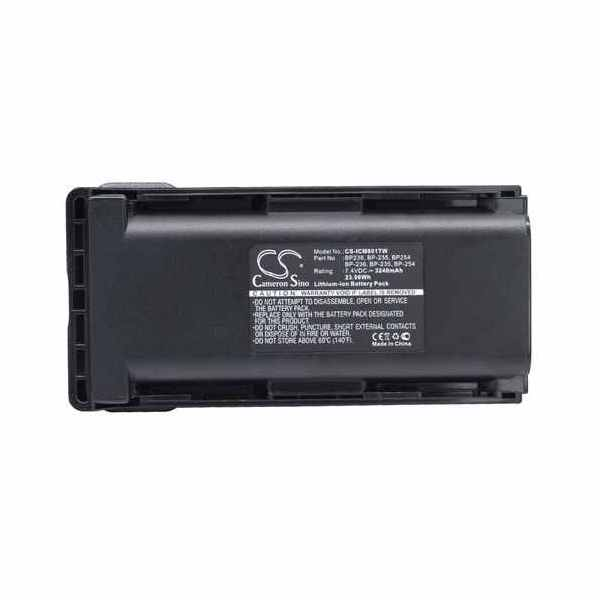 Replacement Battery For Icom BP235 BP-235 BP236 IC-F70 IC-F70D IC-F70DS