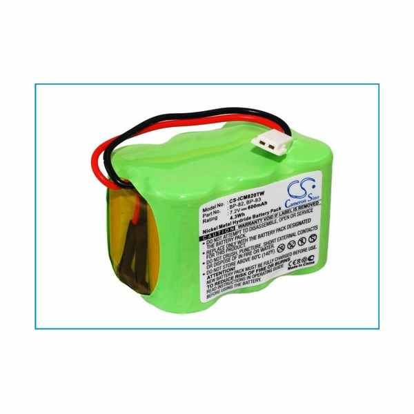 Replacement Battery For Icom BP-82 BP-83 BP-84 IC-24AT IC-24ET IC-25RA