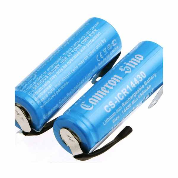 Replacement Battery Batteries For ICR14430 WITH TABS 2pcs-pack CS ICR14430NF