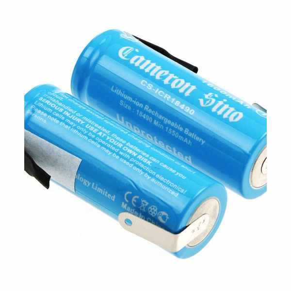 Replacement Battery Batteries For ICR18490 WITH TABS 2pcs-pack CS ICR18490NF