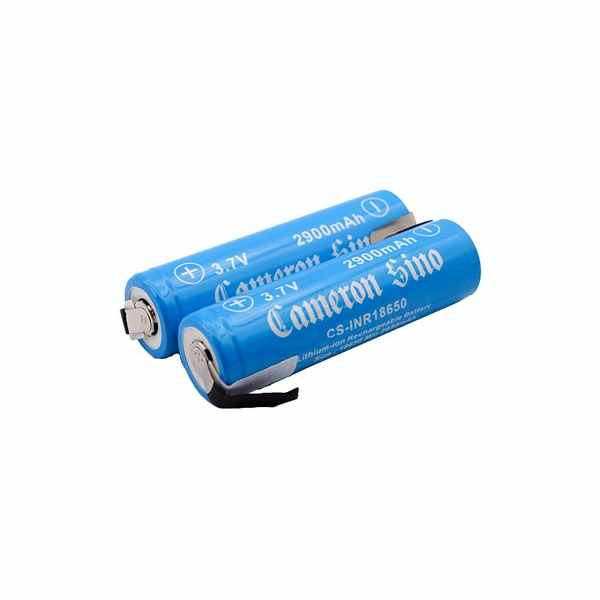 Replacement Battery Batteries For ICR18650 WITH SOLDER TABS 2pcs-pack CS INR18650NR