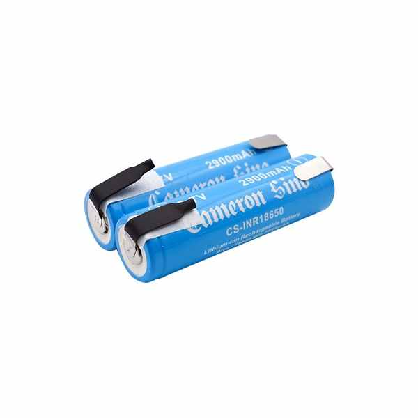 Replacement Battery Batteries For ICR18650 WITH SOLDER TABS 2pcs-pack CS INR18650NT