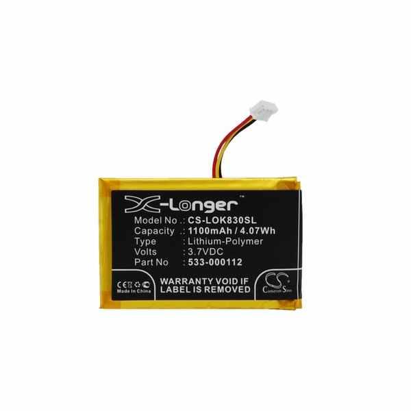 Replacement Battery Batteries For LOGITECH 533 000112 CS LOK830SL