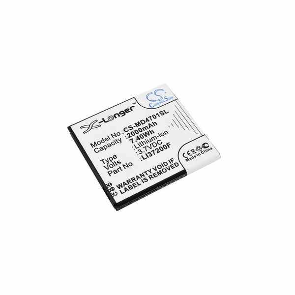 Replacement Battery Batteries For MEDION LI37200F CS MD4701SL