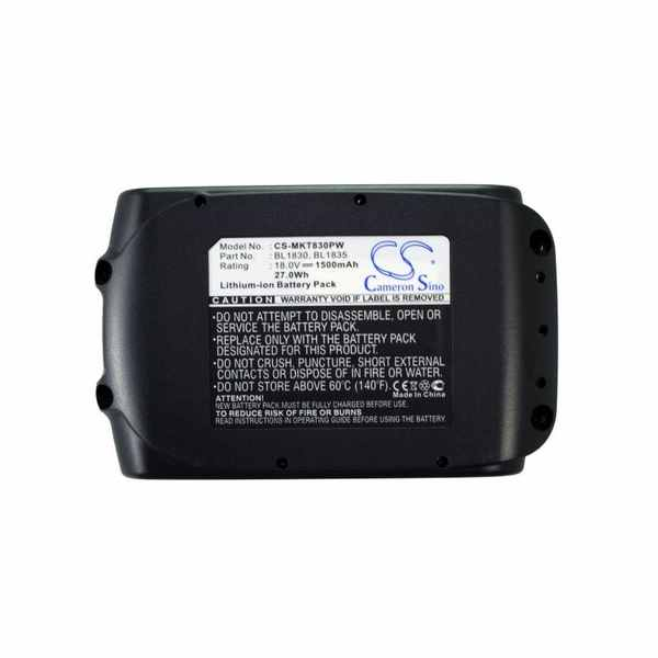 Replacement Battery Batteries For MAKITA LXPH05Z CS MKT830PW