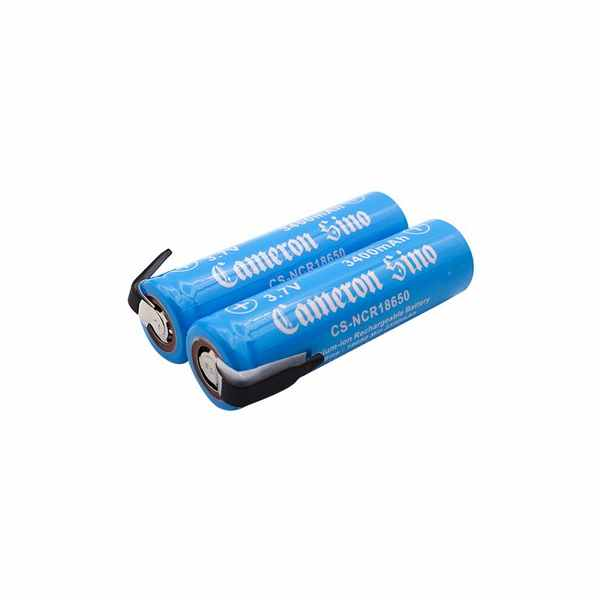 Replacement Battery Batteries For ICR18650 WITH SOLDER TABS 2pcs-pack CS NCR18650NR